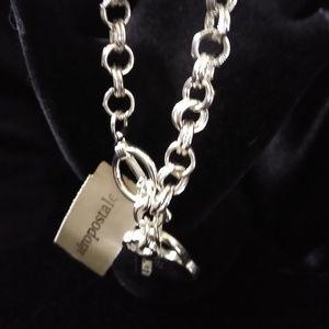 Aeropostale Silver Charm Bracelet